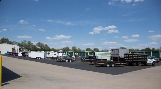 Olathe Kansas Medium Boat and RV Parking Lot