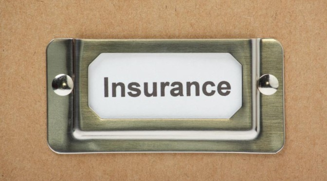 insurance label on box